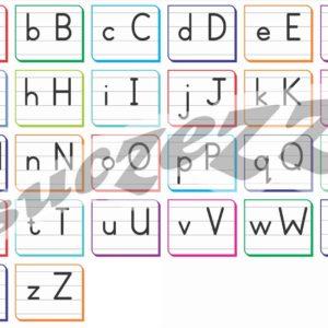 alphabet block letters poster