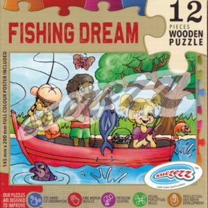 fishing dream wooden puzzle