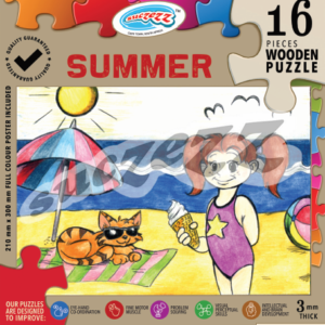 summer 16 piece wooden puzzle