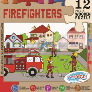 firefighters wooden puzzle