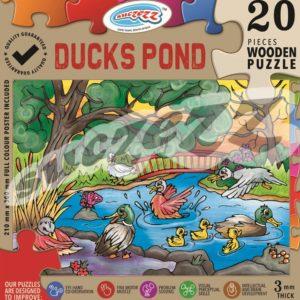 ducks pond wooden puzzle