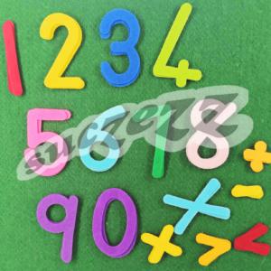 numbers felt