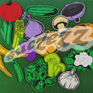 vegetables felt