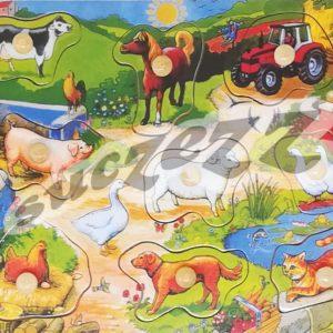 Farm Life Knob Puzzle