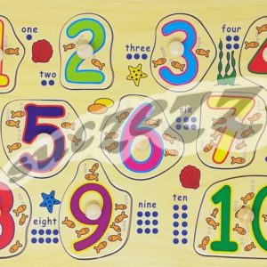 Numbers 1-10 Knob Puzzle
