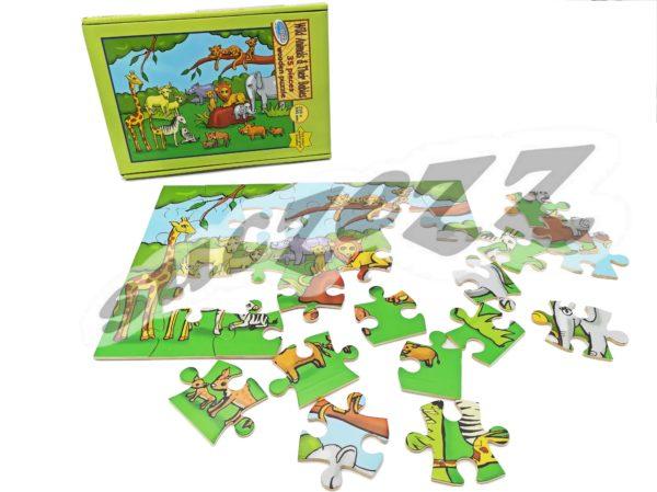 35-Piece Wild Animals And Their Babies - Suczezz