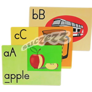 A4 alphabet flash cards
