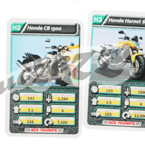 motorbikes playing cards