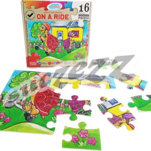 Wooden puzzle 16 Piece Tootie The Tortois On A Ride