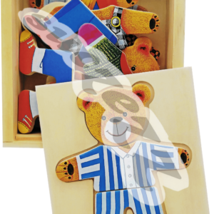Bear construction puzzle boy