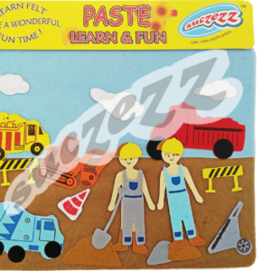 Construction paste and learn set