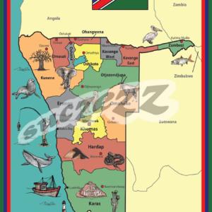 Namibia kaart